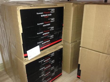 Рулонная этикетка в коробках