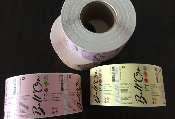 Бумажные наклейки в ассортименте