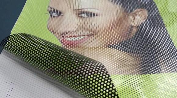 Перфориванные наклейки на окна и стекла