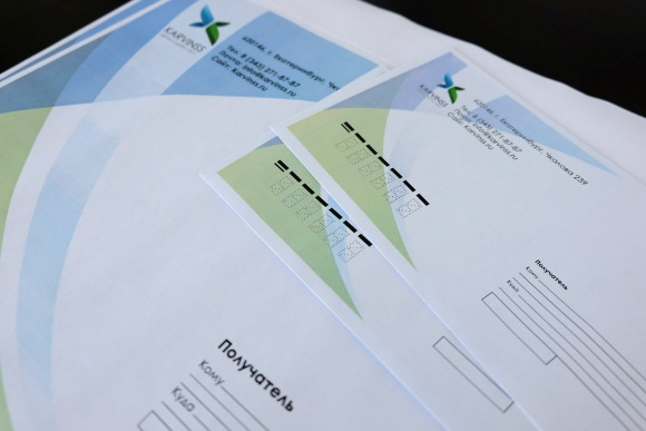 Заказать конверты с логотипом